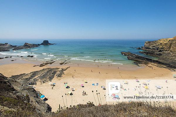 Beach at Zambujeira do Mar  Portugal  Europe