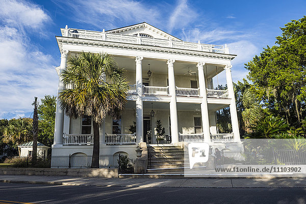 Historical house in Beaufort  South Carolina  United States of America  North America