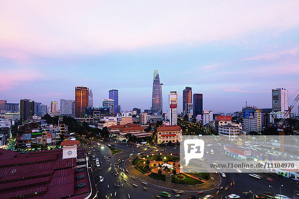 Ben Thanh market area and Bitexco Financial Tower  Ho Chi Minh City (Saigon)  Vietnam  Indochina  Southeast Asia  Asia