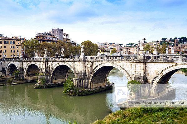 Ponte Sant'Angelo  Tiber River  Rome  Lazio  Italy  Europe