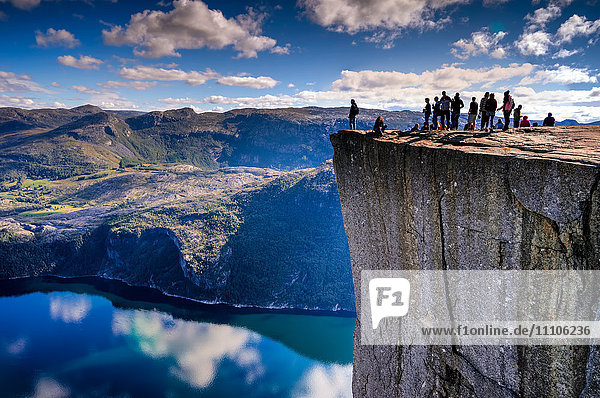 Pulpit Rock  Lysefjord view  Stavanger  Norway  Scandinavia  Europe