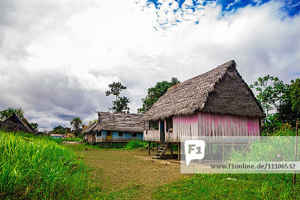 Amazon Village  Iquitos  Peru  South America