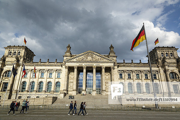 The Reichstag (German Parliament building)  Mitte  Berlin  Germany  Europe