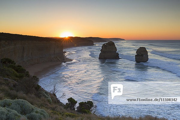 Twelve Apostles at dawn  Port Campbell National Park  Great Ocean Road  Victoria  Australia  Pacific