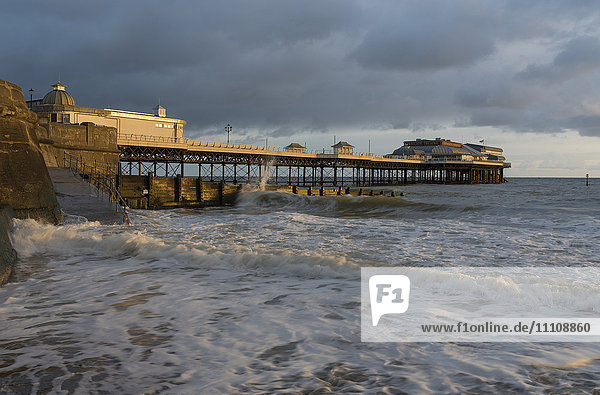 A view of Cromer pier  Norfolk  England  United Kingdom  Europe