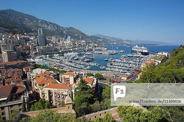 View of Harbour  Monaco  Mediterranean  Europe