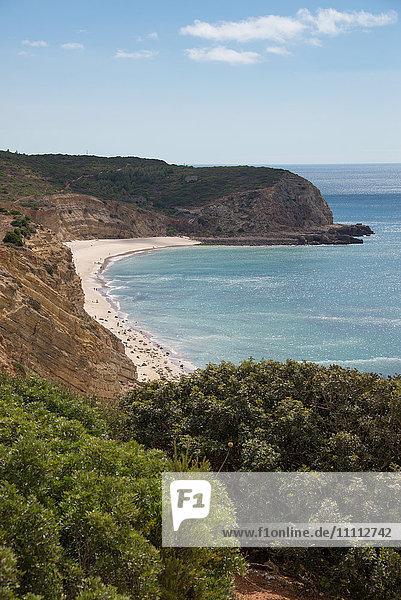 Europe  Portugal  Algarve Region  Lagos district  Praia das Cabanas Velhas