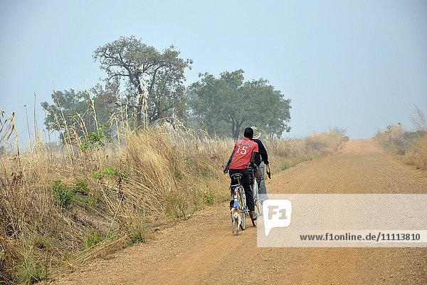 Benin  bike on the road