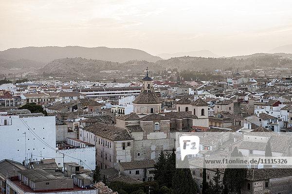 Spain  Murcia region  Caravaca de la Cruz  cityscape