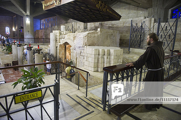 Israel  Nazareth  Basilica of the Annunciation the altar in the upper level church