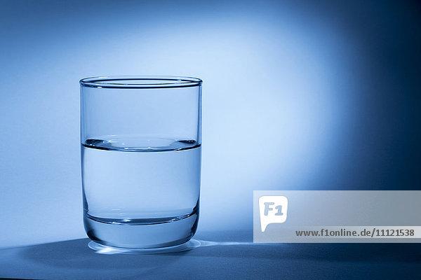 Close up of glass of water
