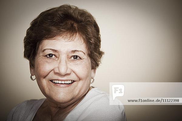 Smiling senior Hispanic woman Smiling senior Hispanic woman
