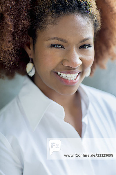 Black businesswoman smiling