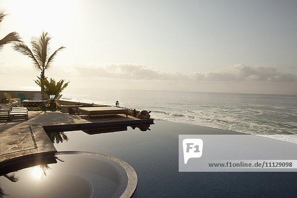 Infinity pool near ocean Infinity pool near ocean