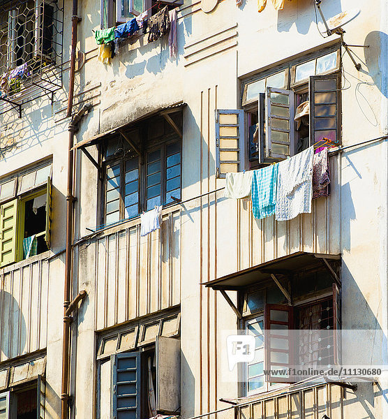 Clothes Drying From Apartment Windows