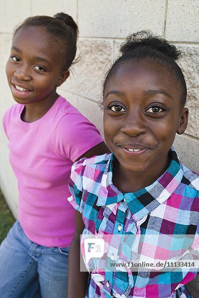 Smiling Black girls