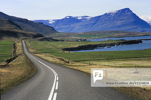 Ring Road in the Eastfjords of Iceland
