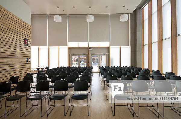 Chairs in empty room