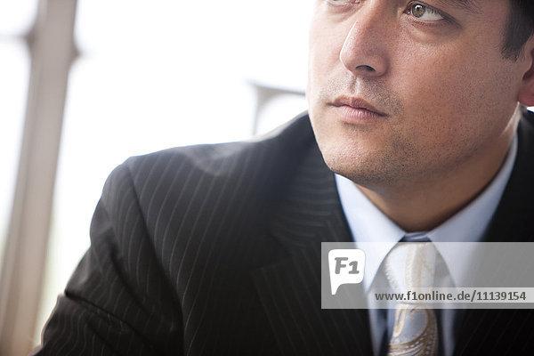 Portrait of mixed race businessman