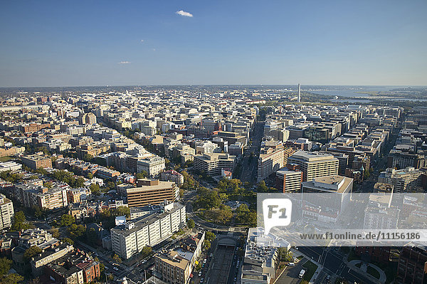 USA  Washington  D.C.  Aerial photograph of the city with Dupont Circle