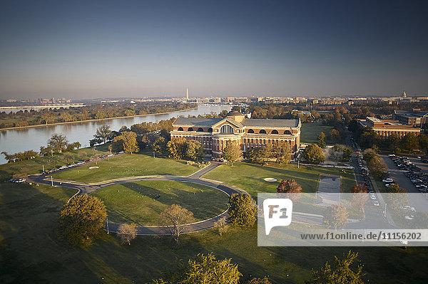 USA  Washington  D.C.  Luftaufnahme des National War College