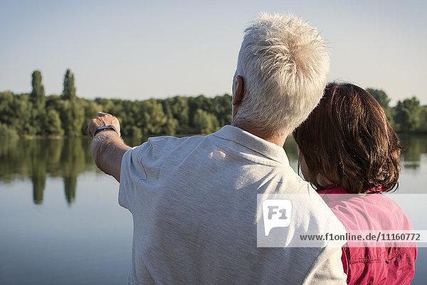 Senior couple at a lake