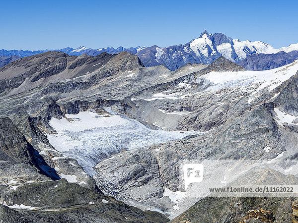 Österreich  Kärnten  Hohe Tauern  Blick von Baumbachspitze auf Sonnblick