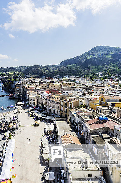 Italy  Sicily  Lipari  costal town
