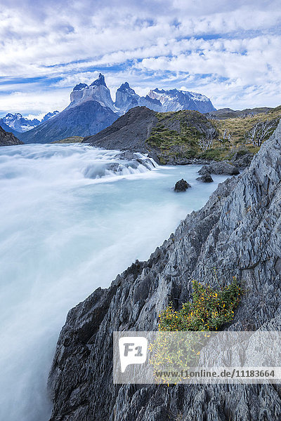 South America  Patagonia  Chile  Torres del Paine National Park The Salto Grande
