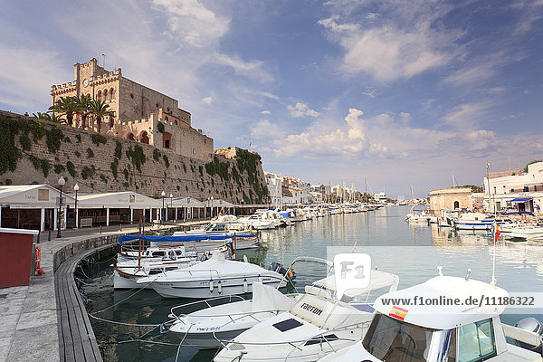 Spain  Balearic Islands  Menorca  Ciutadella  Historic Old Harbour and Old City centre Spain, Balearic Islands, Menorca, Ciutadella, Historic Old Harbour and Old City centre