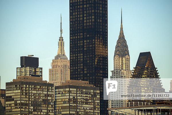 USA  East Coast  New York  Manhattan  Midtown  Chrysler and Empire State Building