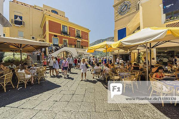 Italien  Capri  Straßencafés