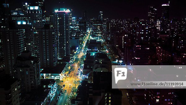 Cityscape at Night  Time-Lapse  Vancouver  British Columbia  Canada