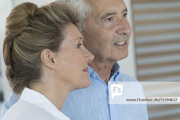 Nahaufnahme eines glücklichen Seniorenpaares