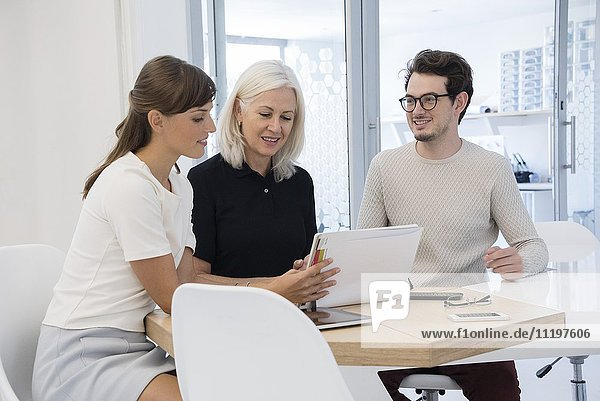 Design-Profis  die in einem Büro arbeiten
