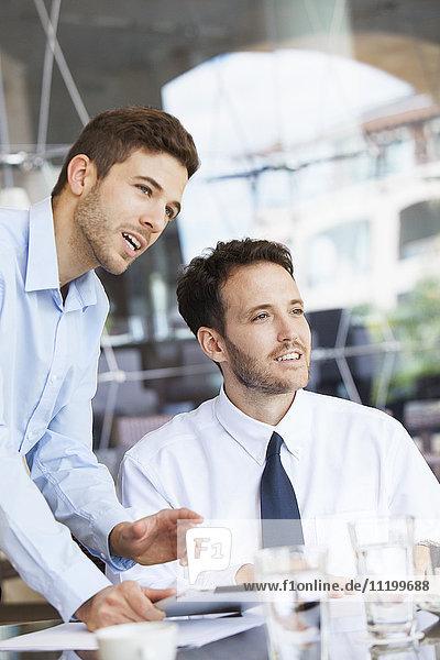 Businessmen collaborating