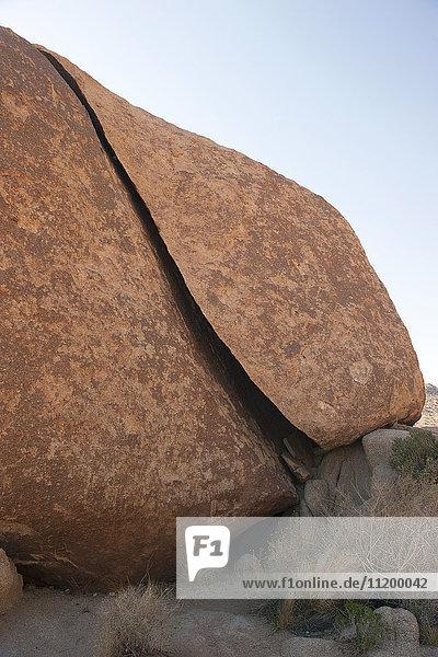 Felsformation im Joshua Tree Nationalpark  Kalifornien  USA