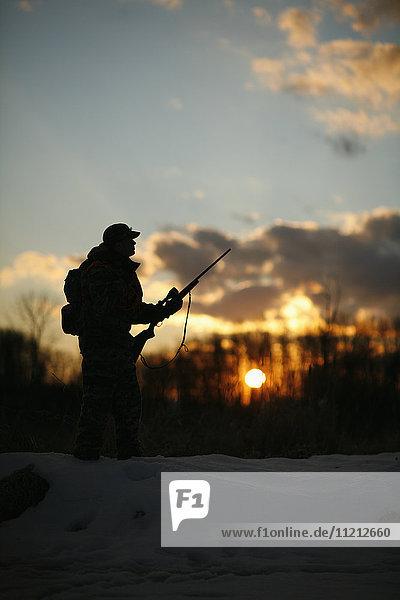 Silhouette of Big Game Hunter