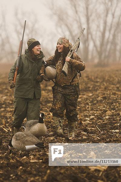 Women Learning To Field Hunt Ducks