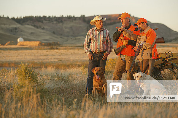 Upland Bird Hunters With Rancher