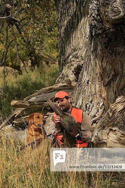 Hunter With Lab