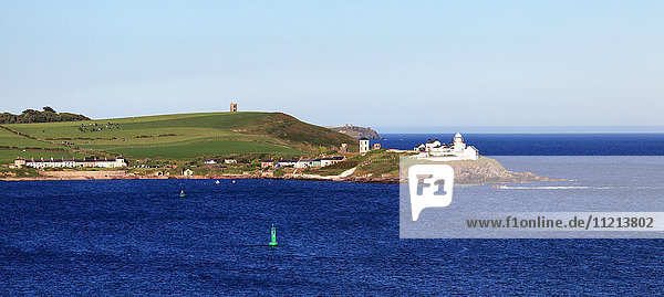 'Roche's Point Lighthouse along the coastline  Roches Point; County Cork  Ireland '