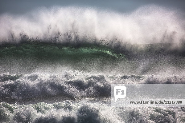 'Large waves from the South Atlantic Ocean pound the shore of Cape Good Hope; South Africa'