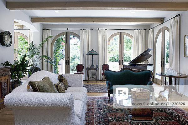 Interior of a modern living room  California  USA