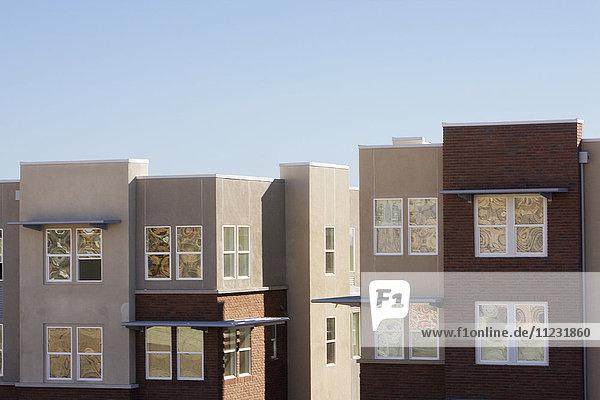 Exterior shot of Contemporary Condominiums