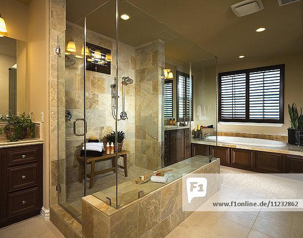 Interior of contemporary bathroom