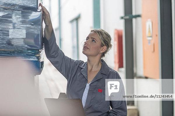 Fertigungsleiter mit Zwischenablage,  Palettenkontrolle