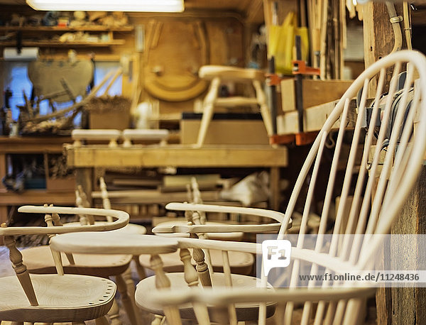 Windsor chairs in preparation