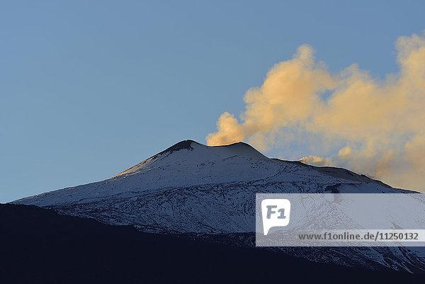 Smoke above Mt Etna