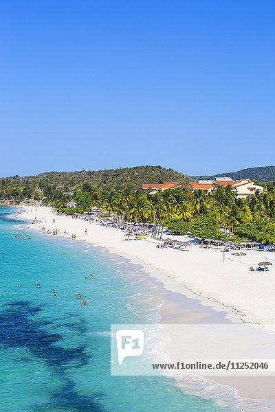 Cuba  Holguin Province  View of Playa Esmeralda and Hotel Sol Río De Luna y Mares